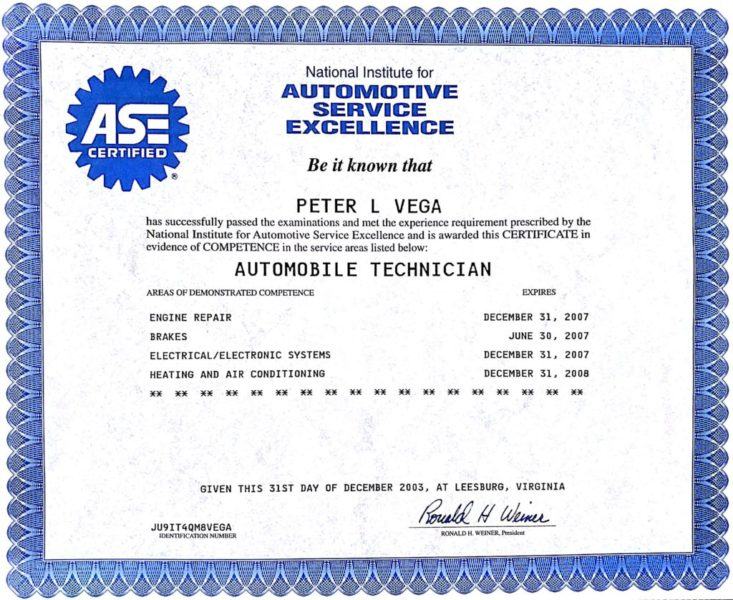 Dent Free Image Automotive Certification